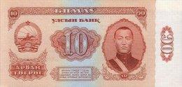 Mongolia 10 Tugrik 1966 Pick 38 UNC - Mongolia