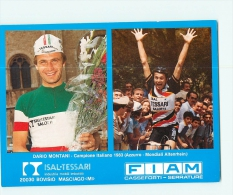 Dario MONTANI, Campione Italiano 1983 2 Scans. Fiam Isal Tessari. 13.3 X 18 Cm GF - Cycling