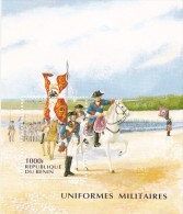Benin 1997 Military Uniforms Miniature Sheet MNH - Militaria