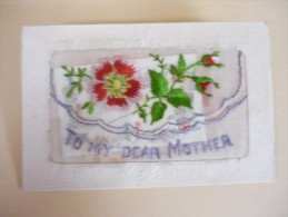 Carte Brodée / To My Dear Mother - Cartes Postales