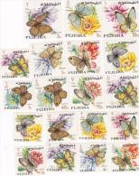 Fujeira Butterflies MNH - Butterflies