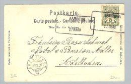 Heimat BE Aarberg 1900-08-27 Ausilfs-O Auf PK - 1882-1906 Armoiries, Helvetia Debout & UPU