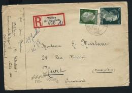 ALLEMAGNE - Enveloppe En Recommandée De Wolfen Pour Niort En 1943 Avec Controle Postal - Lot P12051 - Allemagne