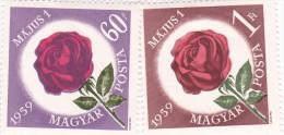 Hungary Roses 1276-77 MNH - Roses