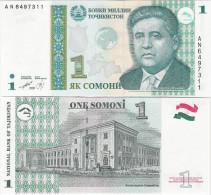 Tajikistan 1999 - 1 Somoni - Pick 14 UNC - Tajikistan