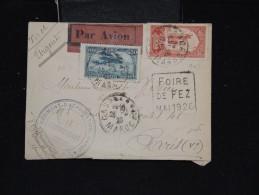 FRANCE MAROC - Enveloppe Du 2ème Régi. D'aérostation - De Casablanca Pour Paris En 1926 - Lot P12055 - Marokko (1891-1956)