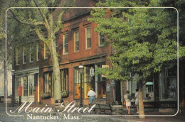 Nantucket Main Street Old Postcard Travelled 1994 Bb151102 - Nantucket