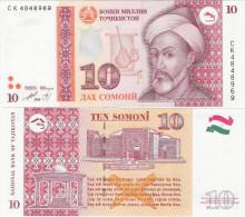 Tajikistan 1999 - 10 Somoni - Pick 16 UNC - Tajikistan
