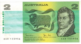 Australia 2  Dollars, XF. FREE SHIP. TO USA. - Decimal Government Issues 1966-...