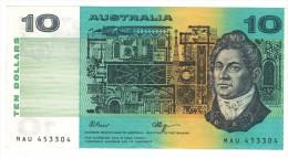 Australia 10  Dollars, VF+. FREE SHIP. TO USA. - Decimaal Stelsel Overheidsuitgave 1966-...