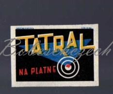 8-208 CZECHOSLOVAKIA 1961 TATRAL Tatrachema Trnava - Cleaning Preparation For Aluminium And Enameled Dishes. - Boites D'allumettes - Etiquettes