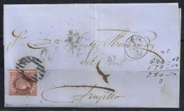 ESPAÑA 1863 ENVUELTA - 1850-68 Regno: Isabella II