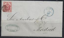 ESPAÑA 1854 -Escudo De España No. 33- ENVUELTAS - 1850-68 Regno: Isabella II