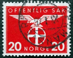 Norway 1942   Minr.48 HERMANSVERK 23-1-1945    (Lot  C 447 ) - Service