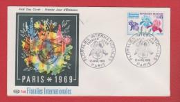 Enveloppe  //  Premier Jour  // Floralies Internationales     // 12 Avril 1969 - 1960-1969
