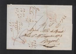 Lettera 1857 Giovinazzo Per Napoli - Lombardo-Veneto