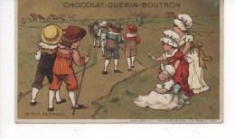 CHROMOS FOND DORE,CHOCOLAT GUERIN - BOUTRON, LE TOUR DE FRANCE,VOIR SCAN,SUPERBE - Guérin-Boutron