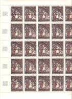 FEUILLE COMPLETE DE 25 TIMBRES N° 1399  NEUF  MNH **  DE 1964 - Feuilles Complètes