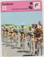 Sport : Cyclisme-vélo :  Fiche  Voir  Descreptif :  éventail  Et  Bordure (   Esso-peugeot) - Cyclisme