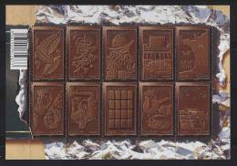 Le Chocolat, Cabosse Féves Personnages Silhouettes Bayonne 1609 Fabrication Plaque Chocolatière Tasse F4357 Neuf - Blocks & Kleinbögen