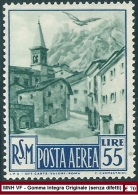 ** San Marino 1950 : VEDUTE Aerea [Lire 55; MNH VF] 475€ - Airmail
