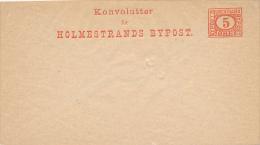 HOLMESTRANDS BYPOST  -  Privatpost - Ganzsachen