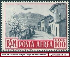 ** San Marino 1950 : VEDUTE Aerea [Lire 100; MNH VF] € 70 - Poste Aérienne