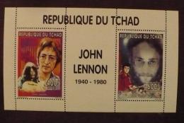 TCHAD John LENNON, Beatles, Musique.  Bloc Collectif Emis En 1996  ** MNH. - Zangers