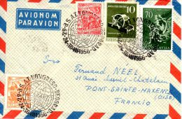 YOUGOSLAVIE. Belle Enveloppe Avec Oblitération De 1956. Congrès D'Esperanto. - Esperanto