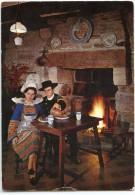 """Quimper  """"La Taverne Des Cariatides"""" Bar Crêperie - écrite Et Timbrée - 2 Scans - Quimper"""