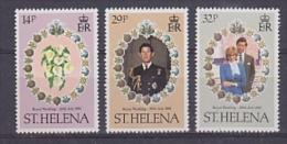 St. Helena 1981 Royal Wedding 3v ** Mnh (25821) - Sint-Helena