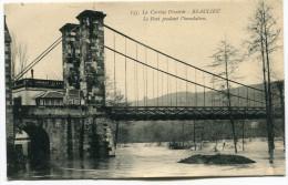 BEAULIEU - Le Pont Pendant L'inondation - Voir Scan - Altri Comuni
