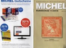 Briefmarken Rundschau MICHEL 11/2015 Neu 6€ New Stamps+coin World Catalogue And Magacine Of Germany ISBN 9 783954 025503 - German