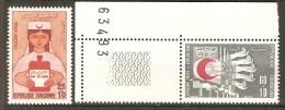 TUNISIE    -    1973 .   Y&T N° 749 à 750 **.  Croix- Rouge  /  Croissant Rouge / Infirmière - Tunisie (1956-...)