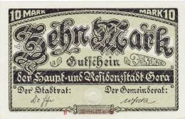 Banconota 10 Mark  1919, Eccellente Conservazione - Zwischenscheine - Schatzanweisungen