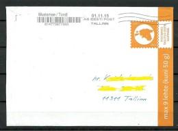 ESTLAND Estonia 2015 Inlandbrief Stationery Cover ( 2013 ) - Estland