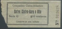 BILLETE DE COMPAÑIA DE CINTRA ATLANTICO // PORTUGAL - Bus