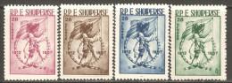 Albania 1957 Mi# 553-556 ** MNH - Proclamation Of Independence, 45th Anniv. - Albania