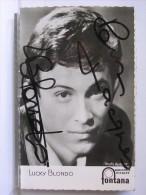 AUTOGRAPHE LUCKY BLONDO - Autographes
