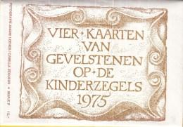 Nederland - Vier Kaarten Van Gevelstenen Op De Kinderzegels 1975 - NVPH 1079-1082 - Postzegels (afbeeldingen)