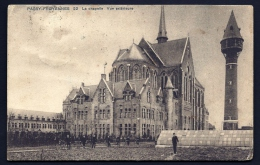 CPA ANCIENNE- BELGIQUE- PASSY-FROYENNES- LE PENSIONNAT- LA CHAPELLE VUE EXTERIEURE- LE CHATEAU D'EAU- CYCLISTES - Tournai