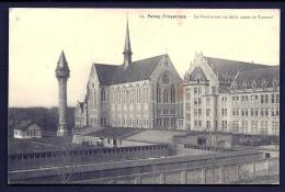 CPA ANCIENNE- BELGIQUE- PASSY-FROYENNES- LE PENSIONNAT VU DE LA ROUTE DE TOURNAI- LA CHAPELLE- LE CHATEAU D'EAU- - Tournai