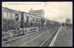 CPA ANCIENNE- BELGIQUE- PASSY-FROYENNES- LE PENSIONNAT- SORTIE EN TRAIN POUR LA FRANCE- WAGONS SUPERBES CLASSES I ET II- - Tournai