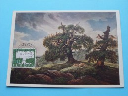 CARUS ( 1789 - 1869 ) Eichen Am Meer Gemäldegalerie Dresden - Anno 1959 ( Voir/zie Foto Voor Details ) !! - Poste & Facteurs