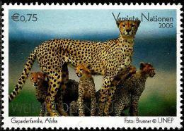United Nations - Vienna - 2005 - EXPO 2005 - World Expo In Aichi - Cheetah - Mint Stamp - Wien - Internationales Zentrum