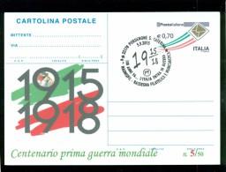 GUERRA 1915-18-PORDENONE-BORSE SALONI COLLEZIONISMO-INTERO POSTALE-SOPRASTAMAP PRIVATA-MARCOFILIA - Guerra 1914-18