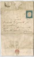 Regno Di Sardegna - Lettera Da Varese Ligure A Genova - 20 Centesimi 4 Dicembre 1859 - Difetti - Sardegna
