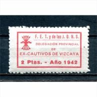 España, Guerra Civil, Ex Cautivos De Vizcaya 2p, 1942, No Catalogado, Raro, ** - Viñetas De La Guerra Civil