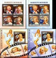 S. Tomè 2006, Cinema M. Monroe, 4val In BF +BF GOLD + 4val In BF +BF SILVER