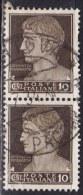 Regno D´Italia, 1929 - 10c Serie Imperiale, Coppia - Nr.245 Usato° - 1900-44 Vittorio Emanuele III
